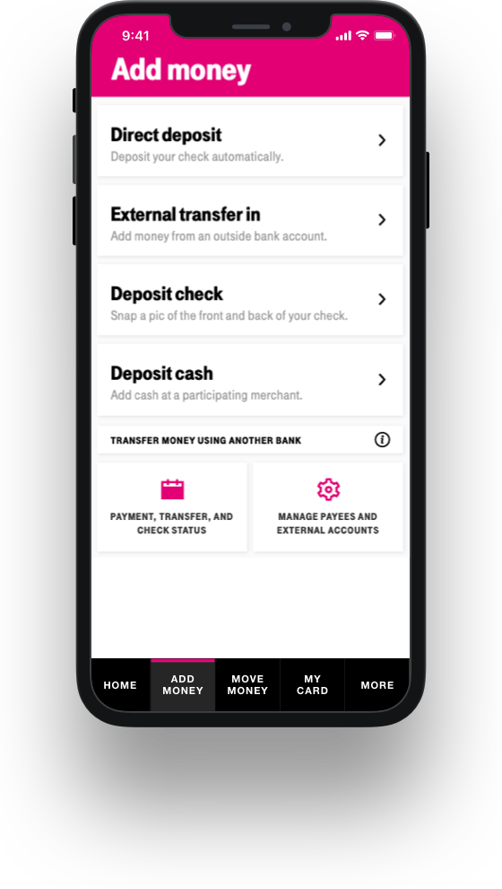Digital Banking - T-Mobile MONEY | T-Mobile