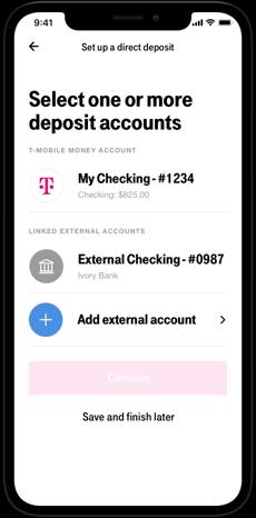 Direct Deposit Setup on T-Mobile MONEY | T-Mobile