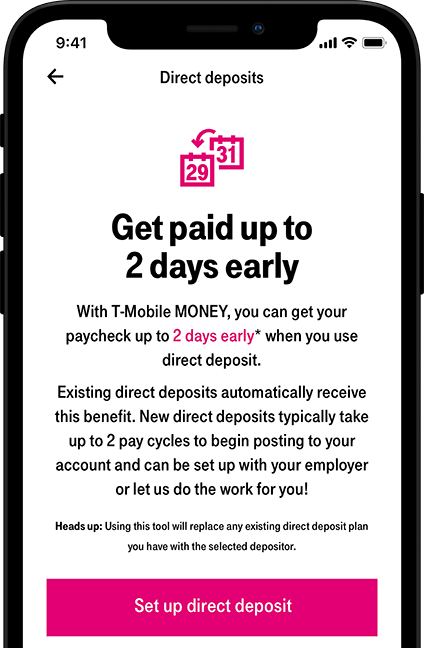 Direct Deposit Setup on T-Mobile MONEY | T-Mobile